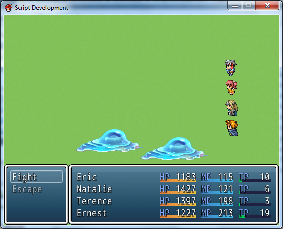 Trying to change battle menus  : RPGMaker